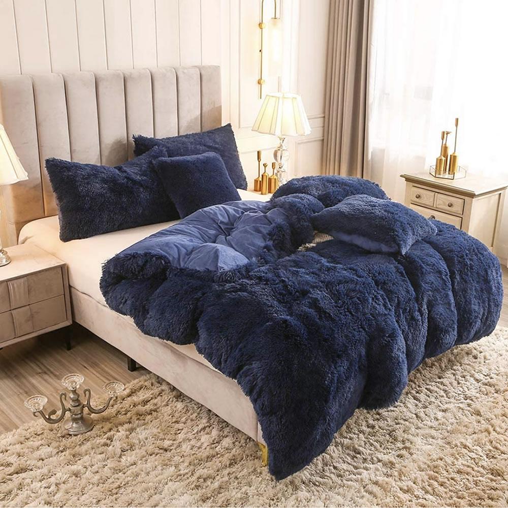 blue fleece bed sheets