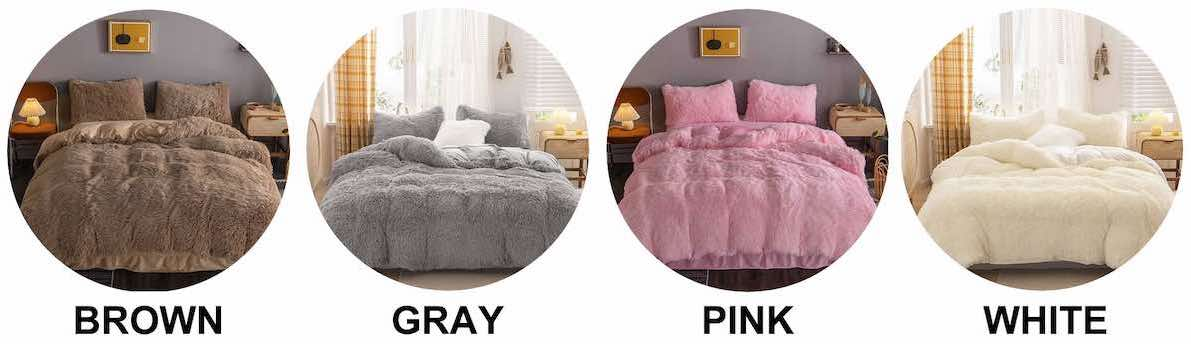 buy faux fur bedding online